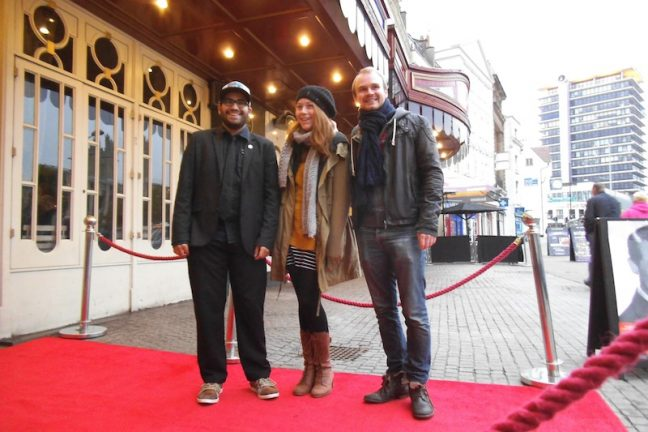 Cary Grant Film Challenge 2014 winner Rob Ayling on the red carpet