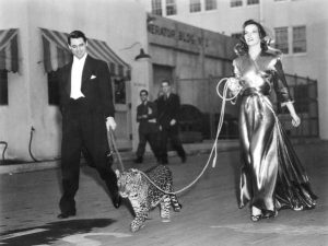 Grant & Hepburn and Nissa on set_400x300