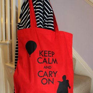 TOTE BAG RED WIDE